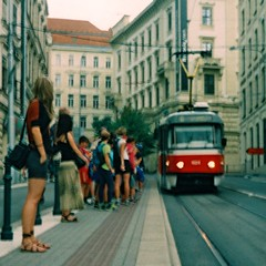 Vega II - Tram Arrival (Kojotisko) Tags: street city people streets vintage person czech streetphotography brno cc creativecommons vintagecamera czechrepublic streetphoto persons vega czechoslovakia superia200 druopta druoptar vega2 vegaii druoptar145f50mm