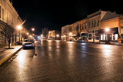 Main Street (Curtis Gregory Perry) Tags: street longexposure reflection wet 30 night oregon highway main 7 bakercity