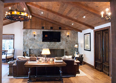 (deanmackayphoto) Tags: wood light lamp stone marilyn table chair fireplace floor guitar ceiling livingroom couch sofa renovation decor fixture interiordesign hardwood