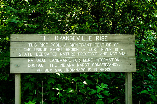 Orangeville Rise of the Lost River Nature Preserve - August 3, 2014