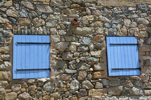 Colourful windows at Corbara (Corsica, France 2014)
