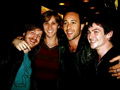 AOL MySpace_003 (Alex O'Loughlin World Wide) Tags: friends smiling laughing hug chesthair jewelry jacket aol scruff augustrush 2008andprior