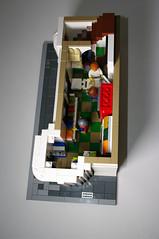 First floor - Modular Lego Pharmacy (jskaare) Tags: world city ice shop corner town store cafe apartment lego cola cream pop pharmacy creation modular drugs medicine soda custom prescription own convenience rx moc