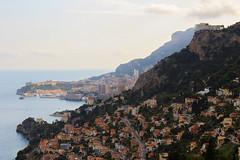 View of Roquebrune and Monaco