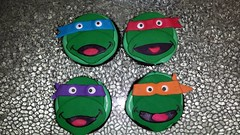 Teenage Mutant Ninja Turtles Cupcakes by Marla, Santa Cruz, CA, www.birthdaycakes4free.com