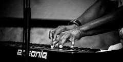 Keys open doors (Johnny Silvercloud) Tags: blackandwhite bw detail monochrome souls keys blackwhite hands piano highcontrast keyboards vignette fragments musicband canon5dmarkiii