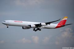 IBERIA Airbus A340 EC-LEU (Daniel Zkn Foto) Tags: aeropuerto iberia aviacin mmmx aicm