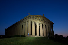 Parthenon (clay.wells) Tags: blue summer architecture canon lens greek photography eos evening nashville zoom mark clayton tennessee august wells parthenon ii hour 5d usm ef 1740mm 2014 f4l img8951