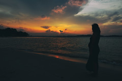 A Beautiful Moment (Explored) (OzGFK) Tags: ocean street sunset sea people sun beach water evening nikon singapore asia afternoon changi changivillage changibeach