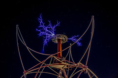 Singing Tesla Coil (peretzp) Tags: burningman blackrockcity brc tesla gerlach phage bm14 phagecamp bm2014 institutevillageburn