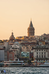Galata at sunset (dria78) Tags: sunset sea sky tower turkey boat nikon tramonto mare torre istanbul barche cielo nikkor galata turchia 180mmf28 d700 andreamasala