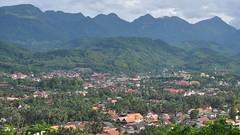Luang Prabang from Mt Phou Si, Laos (David McKelvey) Tags: mountains landscape nikon laos luangprabang 2014 phousi d5000