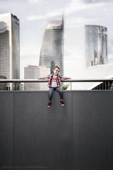 I believe I can fly !!! (Sylvain_Latouche) Tags: paris building tower skyline child ambientlight alix défense nikond800 sylvainlatouche