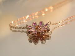 還暦お祝いにルビーのジュエリーを Ruby and Citrine pendant (jewelrycraft.kokura) Tags: ruby pinkgold pendant citrine ペンダント ルビー ピンクゴールド シトリン