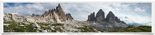 Panorama Paternkofel and Tre Cime di Lavaredo