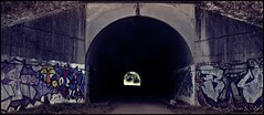 Graffitis (nagarver) Tags: urban color graffiti ciudad tunel pinturas piedra