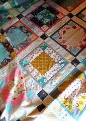 An Emmy Grace quilt top (maureencracknell) Tags: fabrics barij emmygrace artgalleryfabrics