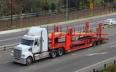 BX-82-UF(AU), Great Western Highway, Leura, September 4th 2014 (Southsea_Matt) Tags: coronado leura freightliner cartransporter greatwesternhighway bx82uf