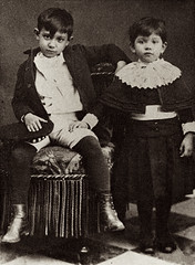 Young Pablo Picasso and his sister Lola (1889)