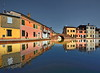 Italian mirror (Nespyxel) Tags: man water reflections mirror alone village riflessi specchio comacchio nespyxel stefanoscarselli