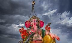 'Tokina'ic Ganapathi (PadmanabanM) Tags: colors clouds wide wideangle 11 tokina ganesh 16 11mm mim pillayar ganapathi foreshoreestate canon60d padmanaban madrasinmotion padmanabanmohan padmanabanfotographie
