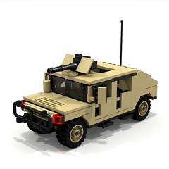 BRIX Military HMMWV V1.0 Fastback Tan A (IK) Tags: lego military hummer ldd hummvee