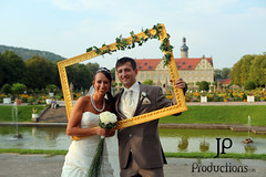 Bride and Groom (Jigsaw-Photography-UK) Tags: flowers wedding water groom bride ivy frame bridal feature jpproductionsuk weikesheim