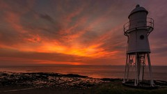 Black Nore lighthouse (technodean2000) Tags: uk sunset england sun lighthouse black wales bristol golden nikon mare glow portishead super western nore clevedon lightroom d5200 infinitexposure