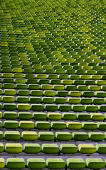 where would you like to sit? (Robeevans) Tags: light abstract building green sports sport canon germany munich eos rebel athletics europe stadium seat eu symmetry arena faded seats sit fade athletes olympics 500d t1i