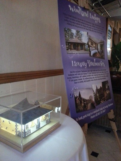 Over in the Alton Towers Hotel there is a light up display for the enchanted village lodges