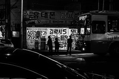 Bus Takers (Must Love Cameras) Tags: street people white 3 black bus island store waiting mark sony korea korean busan m3 hangul takers yeongdo rx100 iii3