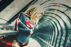 Supergirl (Meian') Tags: bridge paris france sexy girl comics la photo dc costume kent photoshoot geek cosplay sewing nolan daily superman blonde planet strong supergirl defense snyder superheros klark meian costumade ainlina