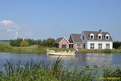 Typical Dutch (ArveBerntzen) Tags: house holland mill netherlands river boats cycling boat canal nikon village nederland cycle kanal bikeride idyll tamron idyllic hus båt amstel kanalen elv vindmølle ouderkerk nikond3200 abcoude utretch northholland ouderkerkaandeamstel nederlando angstel tamron18270