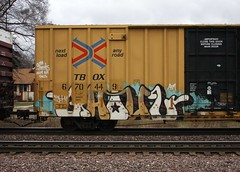 Ghoul (quiet-silence) Tags: graffiti graff freight fr8 train railroad railcar art ghoul ghouls a2m d30 dirty30 boxcar ttx tbox tbox670449