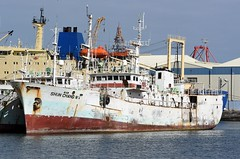 """""""SHUN CHANG No.4"""" - IMO 8514356 (Rick Vince) Tags: shunchangno4 imo8514356 fishingvessel fishingship tunalongliner puertodelaspalmas abandoned"""