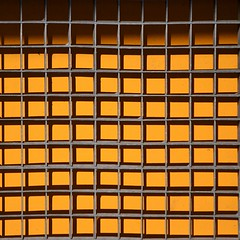 10x10 [There are no dark yellows] (TheManWhoPlantedTrees) Tags: tmwpt grid metal squares quadratum yellow shadows grey grade metalic amarelo cinza grelha braga bsquarecontest goldenrod