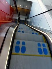 Invisibility (bimbler2009) Tags: sony cybershot london movement motion footprints escalator blue londontube