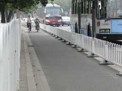 Bicycle lane in Beijing, China