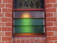 Coloured Louvres and Stained Glass (mikecogh) Tags: church stainedglass coloured maylands louvres