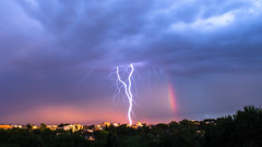 Thunder and rainbow (Federico Dell'Orso) Tags: nature clouds rainbow thunder