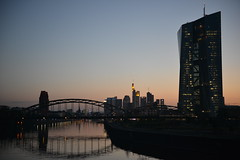 Frankfurt: EZB (dscheronimo) Tags: river germany evening abend frankfurt main fluss ezb