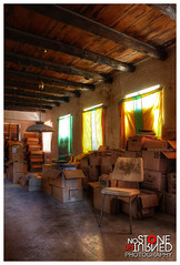 Colored boxes (No Stone Unturned Photography) Tags: lighting arizona house abandoned home rural desert books forgotten curtains boxes urbex