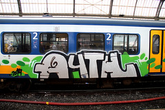 graffiti (wojofoto) Tags: holland amsterdam graffiti nederland netherland cs traingraffiti trackside wojofoto treingraffiti