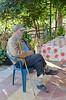 Old man's Portrait (Jiovani 34) Tags: old portrait man hat yard greek alone poor grandpa greece lonely lovely granfather