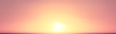 The Horizon. (omri543) Tags: ocean morning pink light sun reflection nature yellow sunrise dawn early waves shine pacific horizon reflect gradient ripples