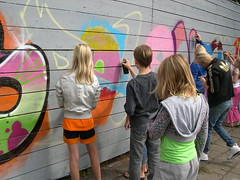 "zomerspelen 2013 Graffiti workshop • <a style=""font-size:0.8em;"" href=""http://www.flickr.com/photos/125345099@N08/14407205435/"" target=""_blank"">View on Flickr</a>"