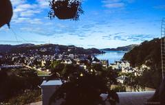 Oban # breakfast view # Schottland_1986 - Minox ML Colorslide - 1986 (irisisopen f/8light) Tags: color analog reisen wasser europa ml farbe minox schottland diafilm scotlad