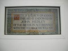 Liverpool Royal Infirmary bed plaque (liverpoolhls) Tags: history liverpool hospital royal medicine nursing infirmary