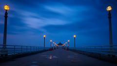 Blue Hour is Beautiful (MGRX100) Tags: longexposure blue clouds pier olympus bluehour manhattanpier em10 pierpressure olympusinspired