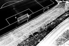 rijeka (vanda trifunovi) Tags: blackandwhite film monochrome playground sport analog infrastructure analogue filed rijeka